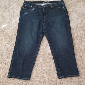 Levi's Boyfriend skinny jeans dark indigo 18w